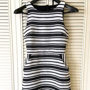 Banana Republic Striped Size 2 Peep Hole Dress